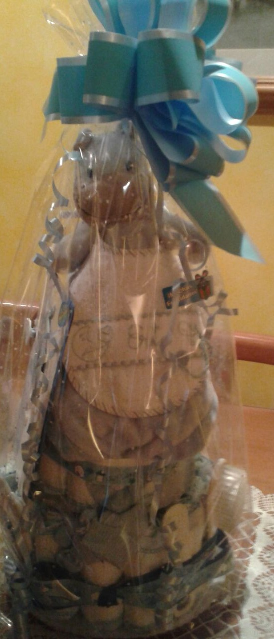 Tartas de pañales I: un regalo muy útil