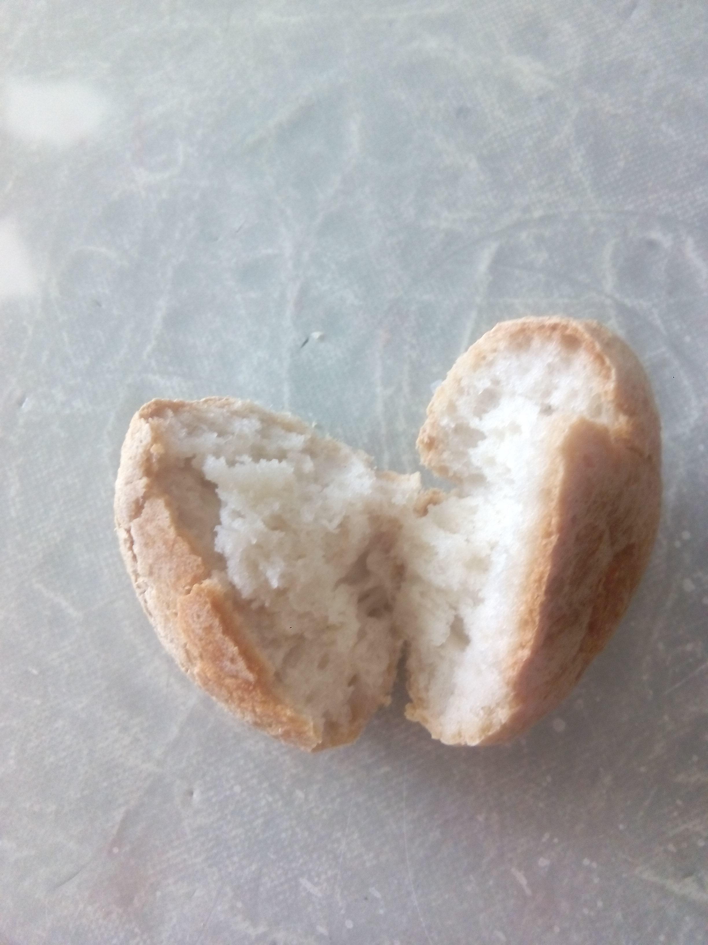 Molletes de pan sin gluten
