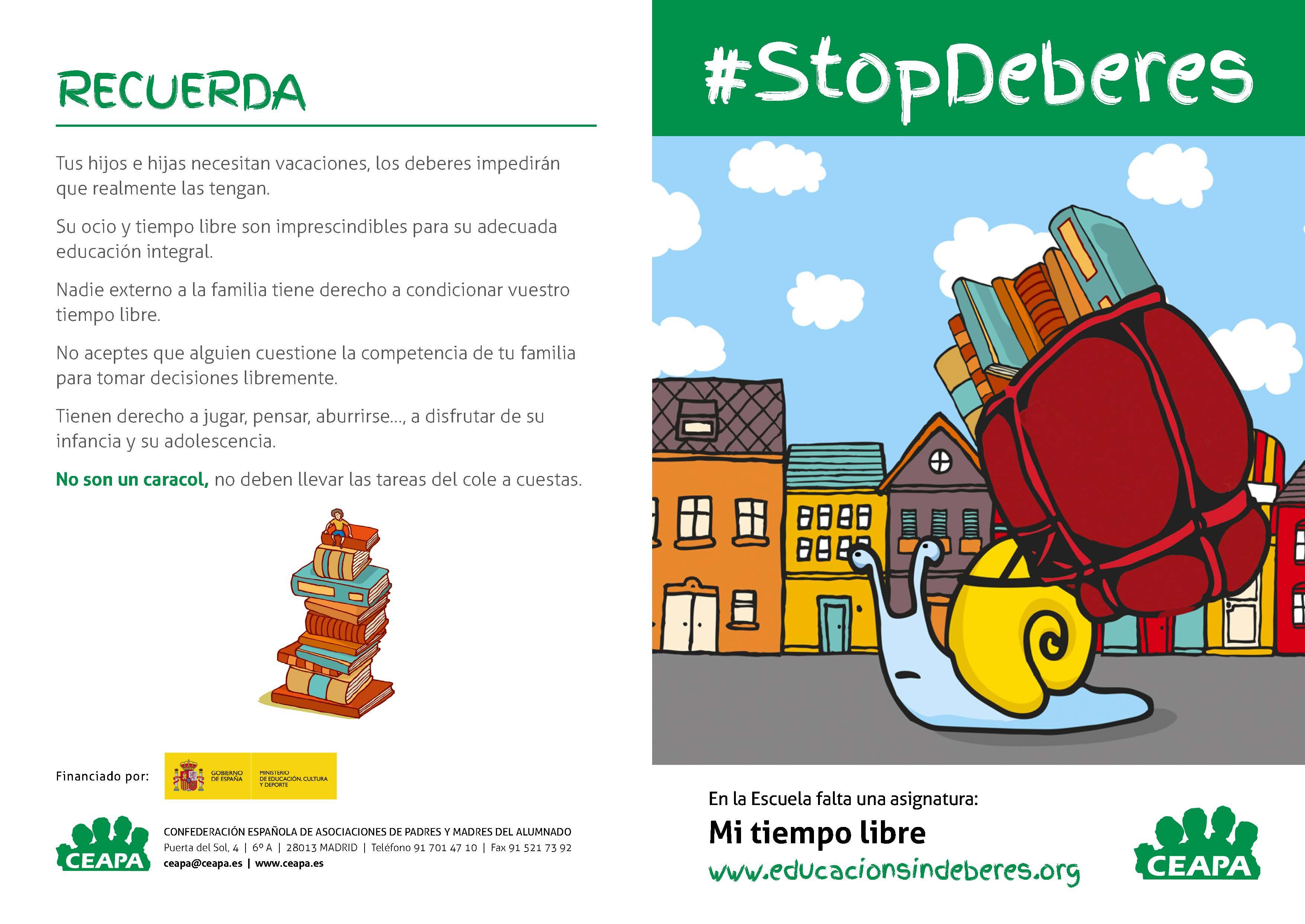 #STOPDeberes ¿o no?